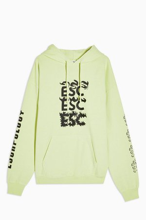 ESCAPOLOGY Lime Green Hoodie | Topshop