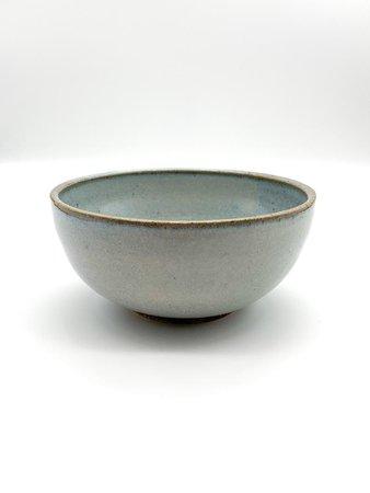 Blue soup bowl Ceramic cereal bowl Grey bowl | Etsy