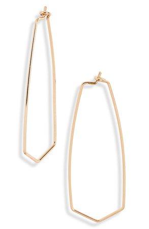 BP. Polygon Hoop Earrings | Nordstrom