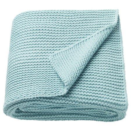 """INGABRITTA Throw, light blue, 51x67"""" - IKEA"""