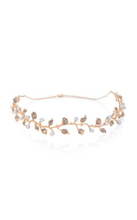 18K Rose Gold, Pearl And Diamond Choker by Colette Jewelry | Moda Operandi