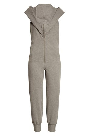Norma Kamali Zip Front Hooded Jumpsuit | Nordstrom