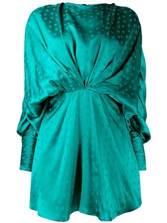 Attico Star Print Draped Mini Dress - Farfetch