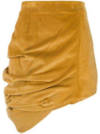 Yellow Y/Project corduroy asymmetric skirt WSKIRT28S17CF43 - Farfetch