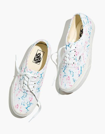 Madewell x Vans® Unisex Authentic Lace-Up Sneakers in Tie-Dye Canvas