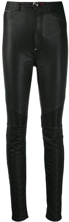 super highwaist Biker Statement trousers