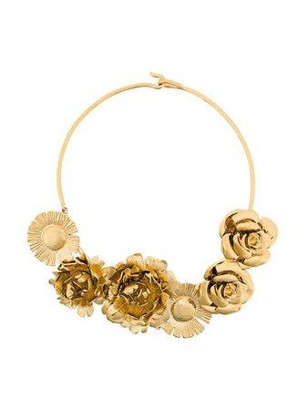 Aurelie Bidermann Selena statement flower necklace
