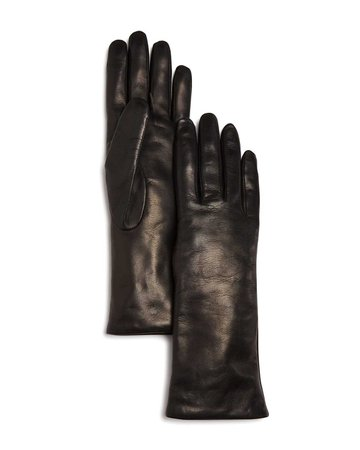 Bloomingdale's Cashmere Lined Leather Gloves - 100% Exclusive | Bloomingdale's