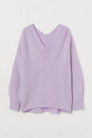 Knit Sweater - Light purple - Ladies | H&M CA