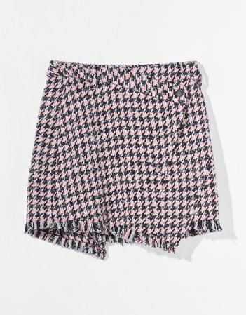 Asymmetric mini skirt - Skirts - Woman | Bershka