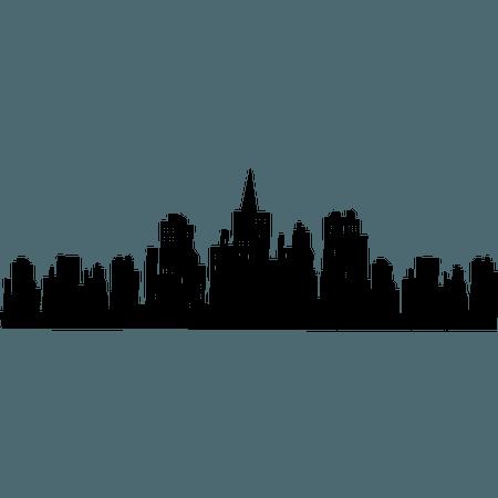 Batman Gotham City Skyline Bat-Signal sticker mural - batman 800 * 800 transprent Png Gratuit Téléchargement - Ville, Métropole, Silhouette.