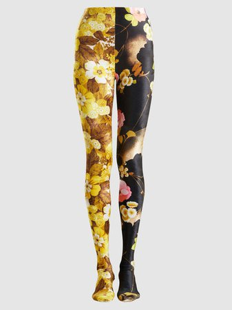 Richard Quinn - 50/50 Floral-Print Velvet Leggings | The Modist