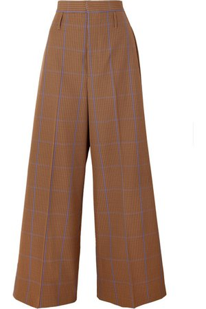 Vivienne Westwood | Puppytooth tweed wide-leg pants | NET-A-PORTER.COM