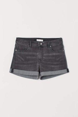 Short Denim Shorts - Gray