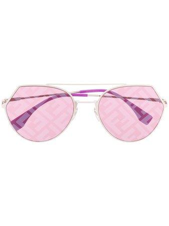 Fendi Eyewear FF oversized-frame Sunglasses - Farfetch