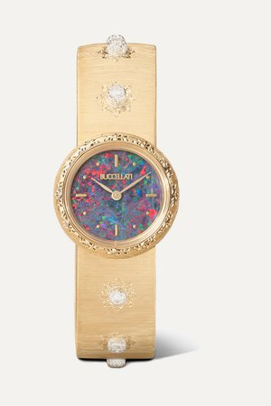 Buccellati | Macri 24mm 18-karat gold, opal and diamond watch | NET-A-PORTER.COM