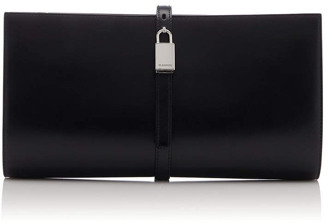 Padlock Leather Clutch