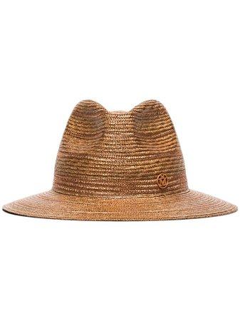 Maison Michel Rico Straw Fedora Hat - Farfetch