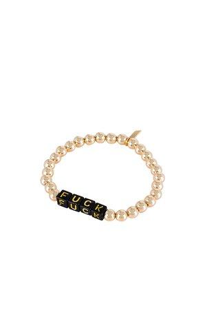Electric Picks Jewelry X REVOLVE Tag Bracelet in Gold   REVOLVE