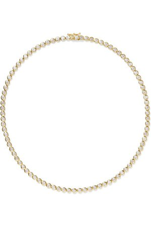 Jennifer Meyer | 18-karat gold diamond necklace | NET-A-PORTER.COM