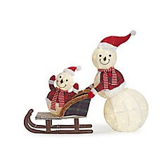 Home Accents Holiday 72-inch Warm White LED-Lit Snowman with Stars Christmas Decoration | The Home Depot Canada