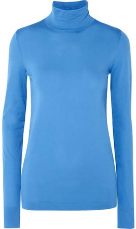 Les Rêveries - Stretch-knit Turtleneck Top - Blue
