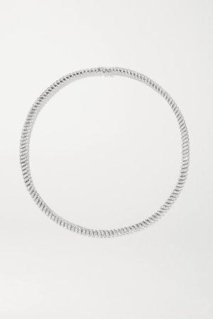 White gold Zoe 18-karat white gold diamond necklace | Anita Ko | NET-A-PORTER