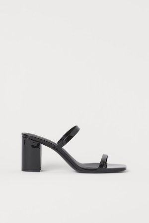 Slip-in Sandals - Black