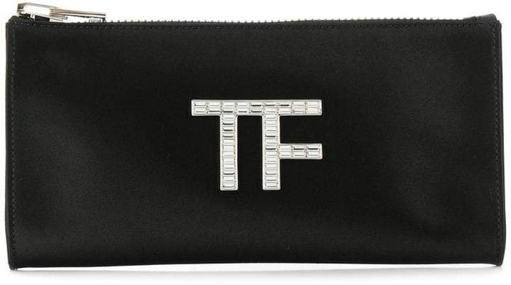 logo clutch bag