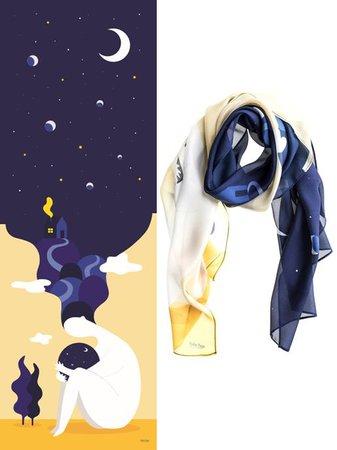 The World Yellow Silk Scarf - OOSTOR.com