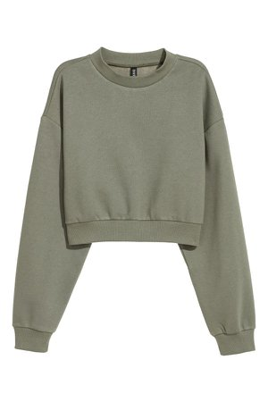 Turtleneck sweatshirt | Dark khaki green | LADIES | H&M ZA