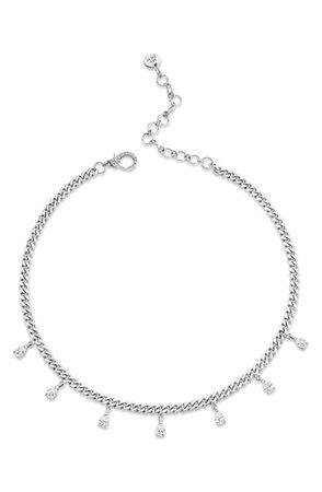 SHAY Baby Link Mini Diamond Charm Choker | Nordstrom