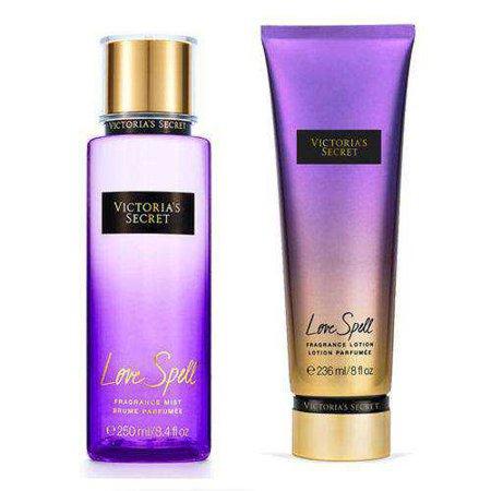 Kit Victoria's Secret Love Spell Creme Hidratante 236ml + Body Splash 250ml nas Lojas Americanas.com