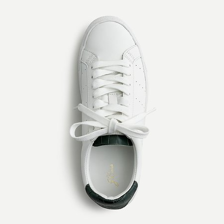 white J.Crew: Saturday Sneakers With Croc-embossed Detail For Women