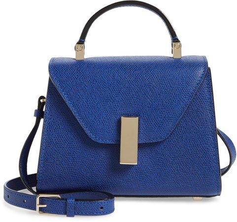 Micro Iside Leather Top Handle Crossbody Bag