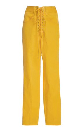large_sally-lapointe-yellow-stretch-corset-lacing-pant.jpg (640×1025)