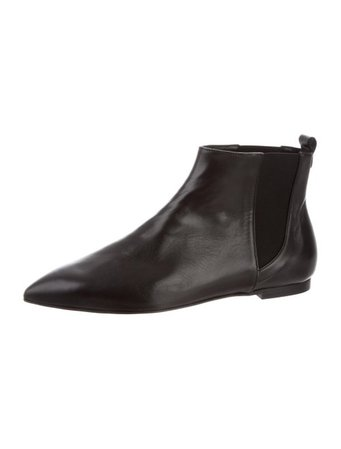 Abel Muñoz Leather Pointed-Toe Ankle Boots - Shoes - W7A20500 | The RealReal
