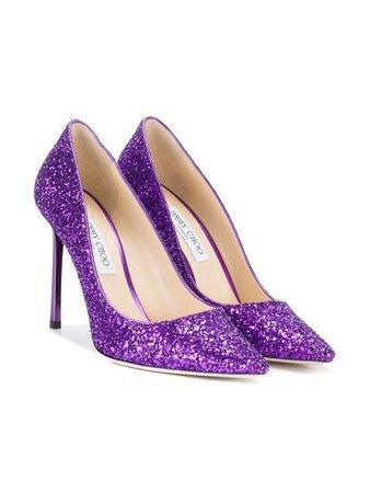 chimmy choo purple glitter