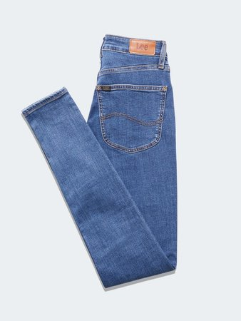 Lee Ivy Jeans dark blue folded