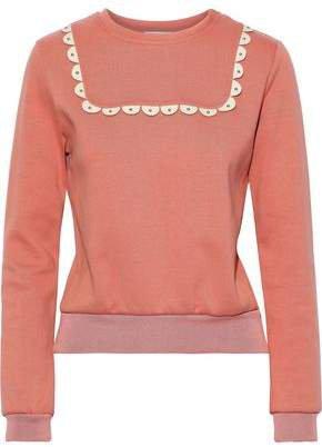 Studded Cotton-blend Jersey Sweatshirt