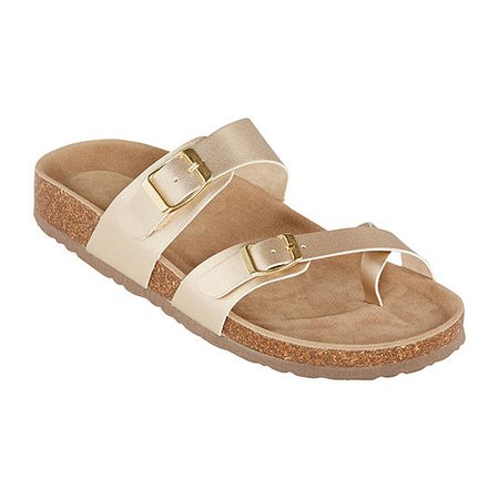 Arizona Fairhaven Womens Adjustable Strap Footbed Sandals - JCPenney
