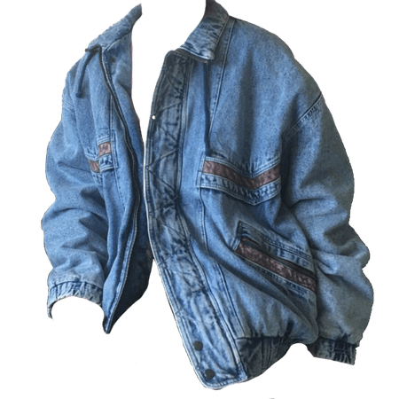 blue jean jacket depop shared by niko on We Heart It