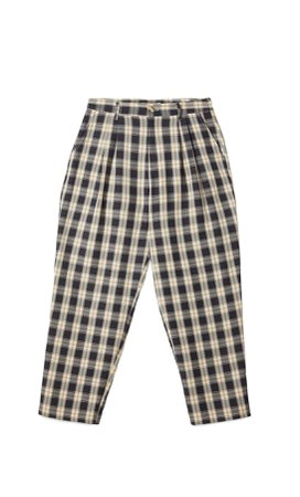 black Check slouchy trousers - Women's Just in | Stradivarius United States