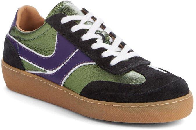 Metallic Low Top Sneaker