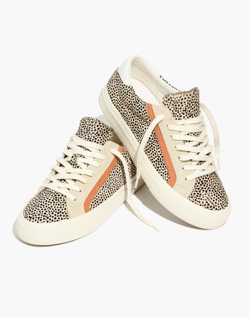 Sidewalk Low-Top Sneakers in Spotted Calf Hair