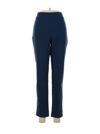 So Slimming by Chico's Solid Blue Casual Pants Size Med (1) - 77% off | thredUP