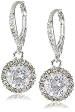 Betsey Johnson Women's CZ Drop Earrings Crystal Drop Earrings: Jewelry