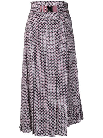 Fendi Belted Pleated Skirt - Farfetch
