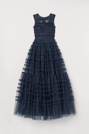 Tulle Ball Gown - Blue