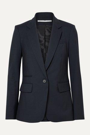 Classic Stretch-wool Crepe Blazer - Midnight blue